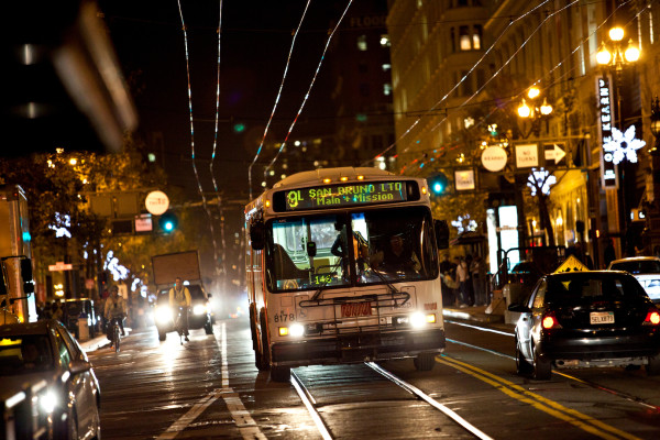 Muni at night
