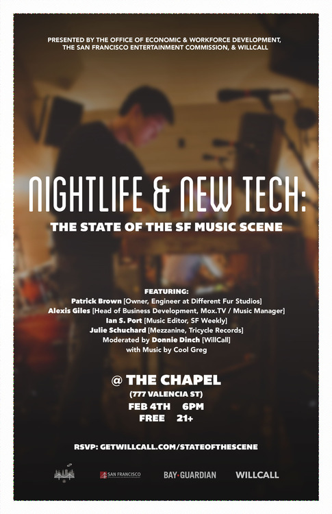 nightlife and new tech music scene poster