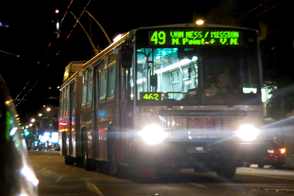 Late Night 49 Bus - Photo by Torbakhopper